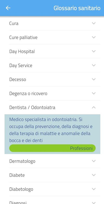 Screenshot app Officina dell'Italiano